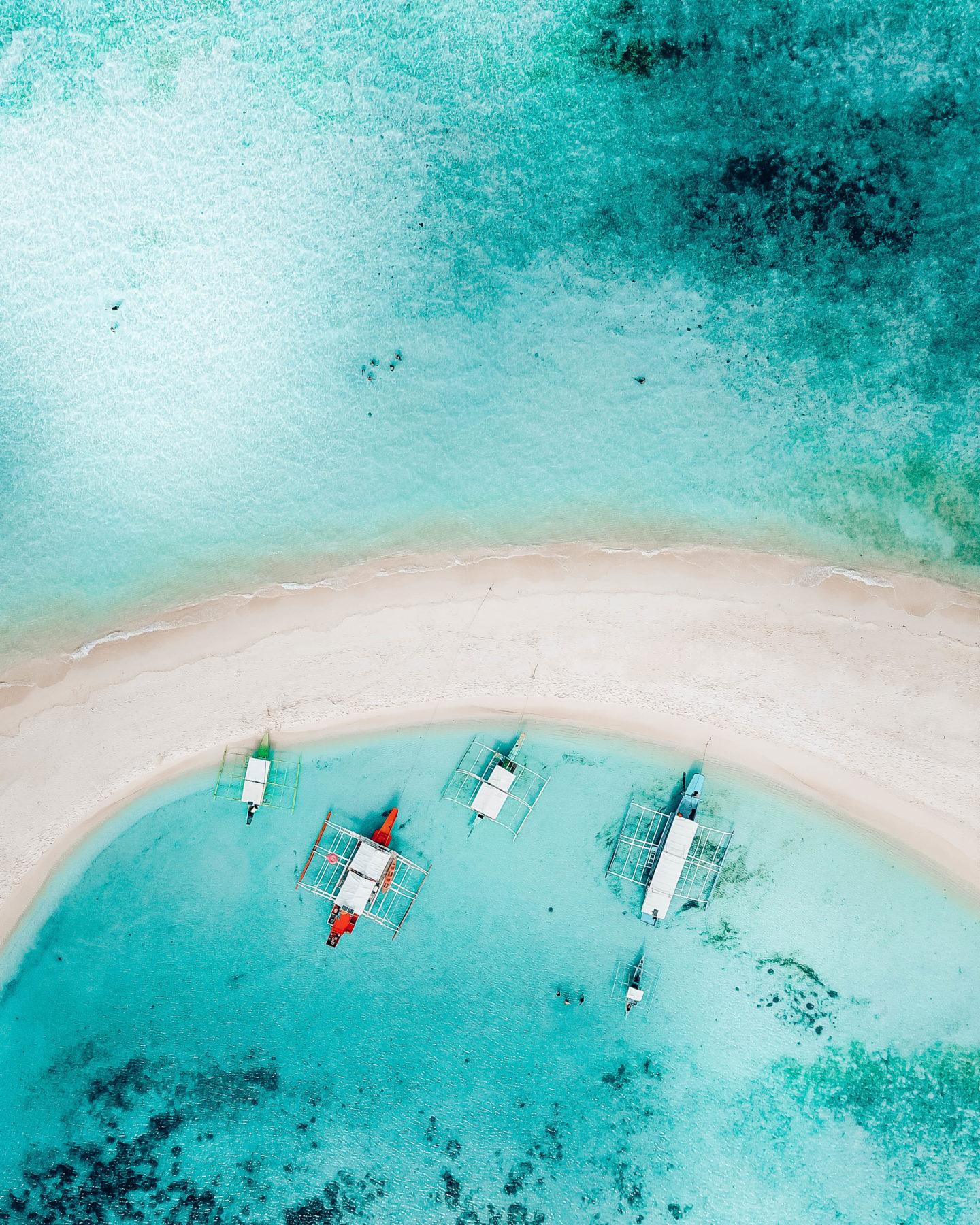 aerial drone photo of Ditaytayan Island Sandbar coron island hopping