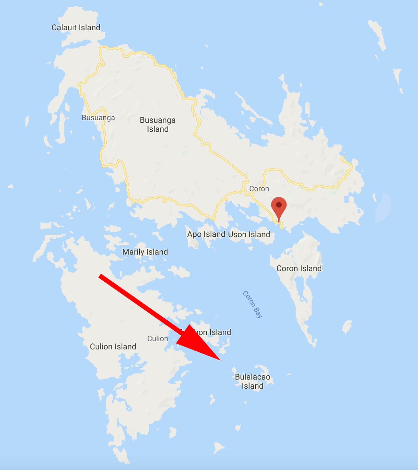 coron island hopping map