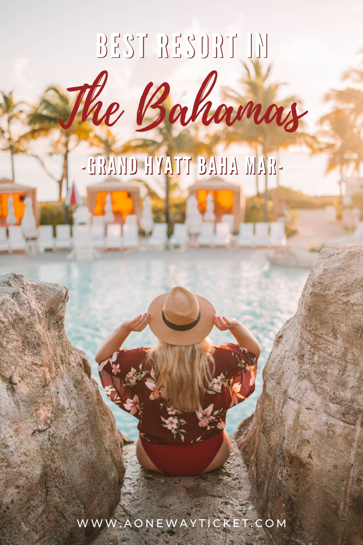 Ready for a weekend trip? Planning a wedding or bachelorette weekend? The Bahamas are the perfect place for a tropical vacation to relax and compress or have fun with your friends and family! The Grand Hyatt Baha Mar is everything you could ever want, whether you're dying to lay on the beaches or wanting a resort you have endless things to do in! Day trip to Exuma, beautiful spots for photography? Check out one of the Bahamas best resorts! #bahamastravel #bahamas #caribbean
