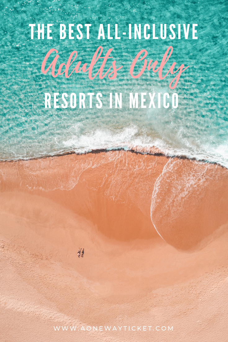 Mexico has some of the best beaches in the world, so it's no surprise it's an extremely popular destination for all inclusive resorts. Learn about all the best adults only all inclusive resorts in Mexico, whether you want to visit Cancun, Riviera Maya, or Cabo. On a budget? My favorite budget adults only all inclusive is on the list too! There are options for friend groups, bachelor and bachelorette parties, couples, and honeymoons! #mexico #mexicoresorts #allinclusive #cancun #cabo