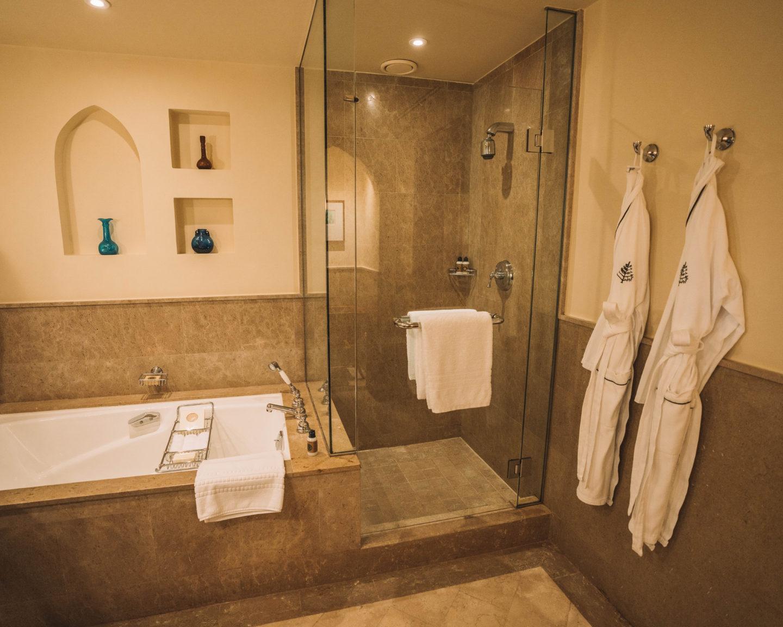 bathtub and shower at the Four Seasons Sharm El Sheikh