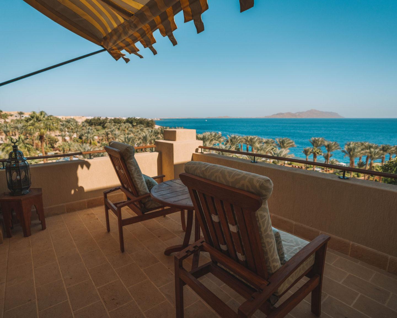balcony views at Four Seasons Sharm El Sheikh