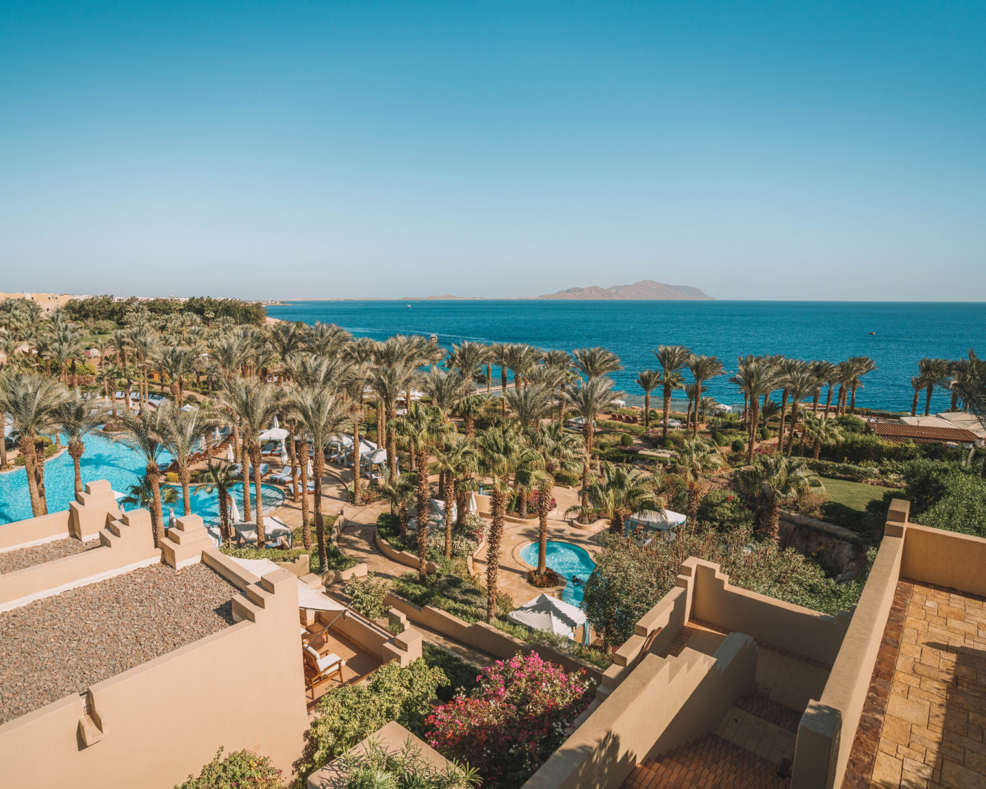 view from the balcony at Four Seasons Sharm El Sheikh