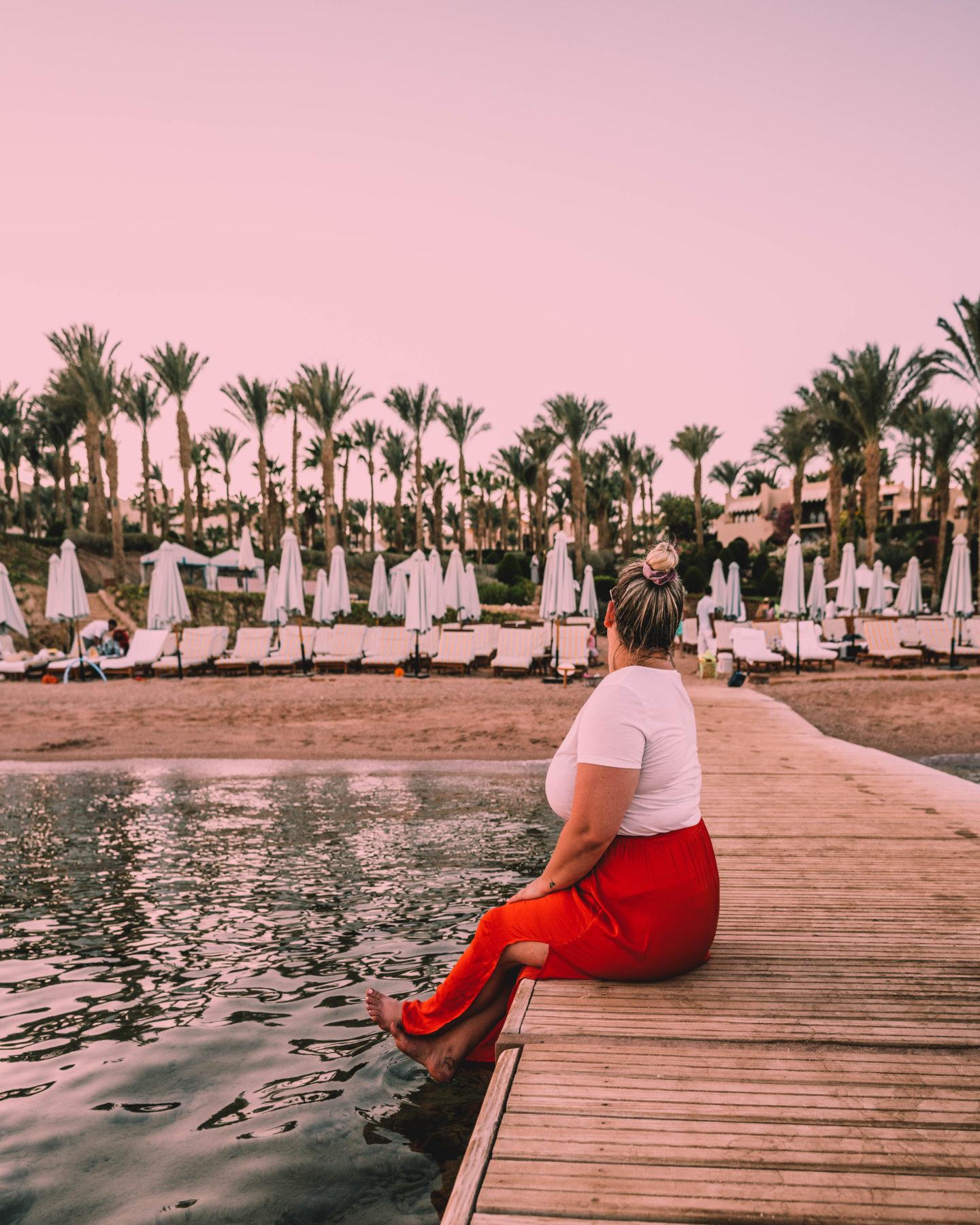 sunset at the pier at Four Seasons Sharm El Sheikh