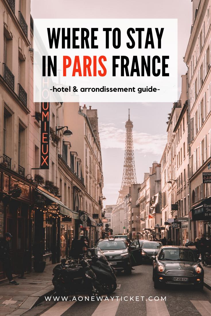 paris france hotel and arrondissement guide