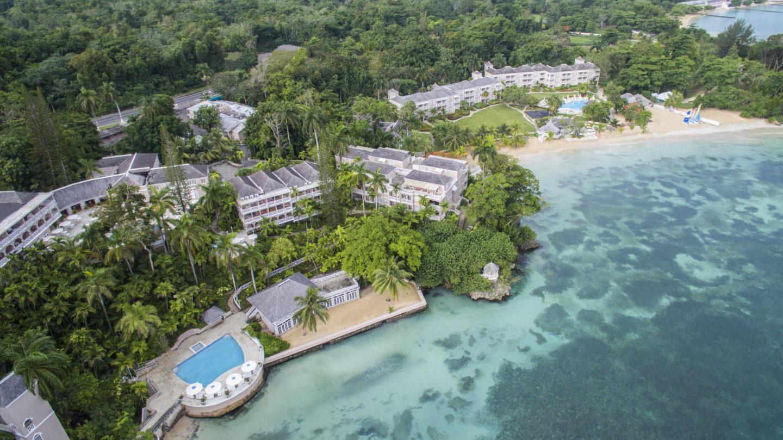 aerial of couples san souci jamaica