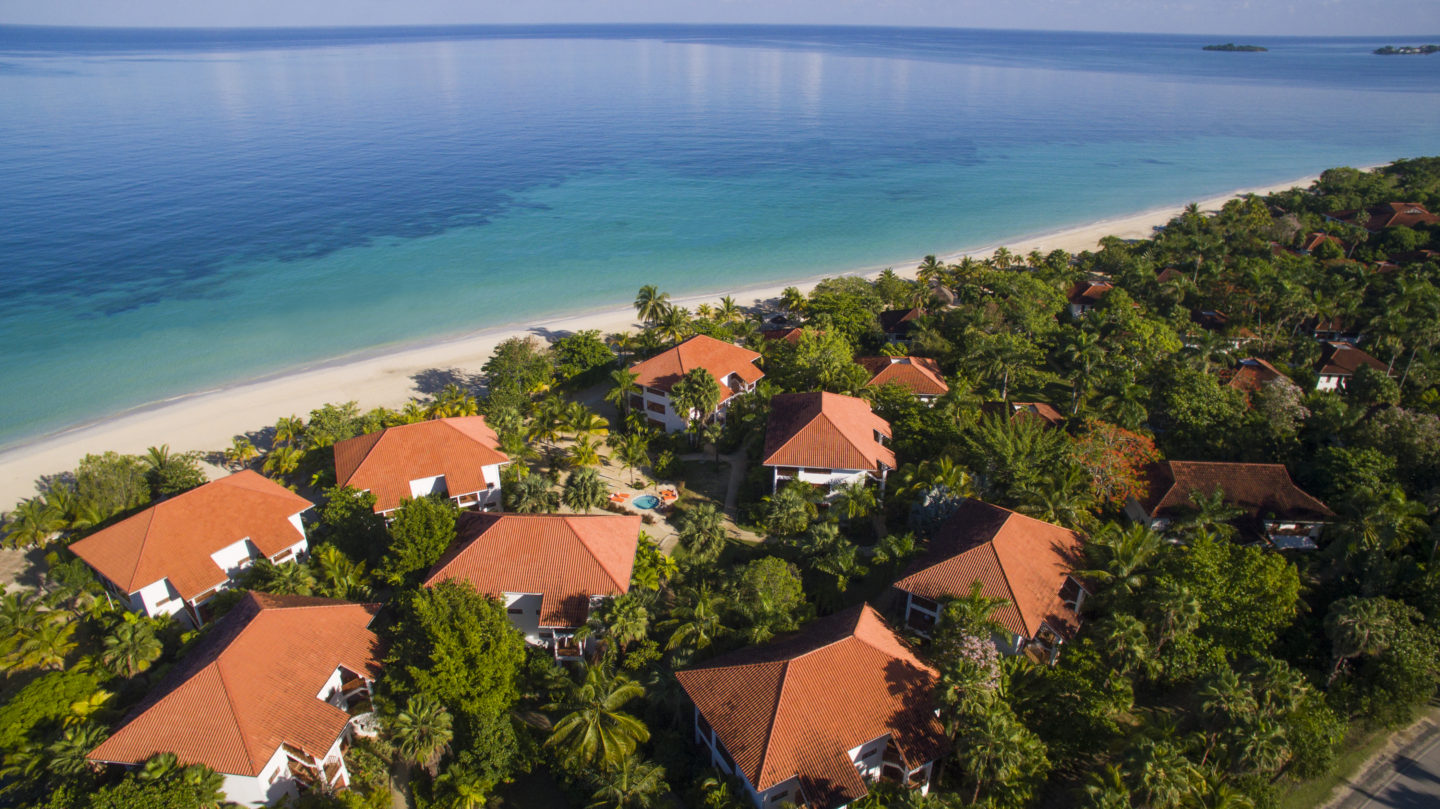 aerial of resort at couples swept away jamaica