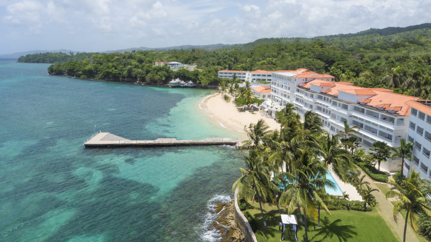 aerial of couples tower isle jamaica