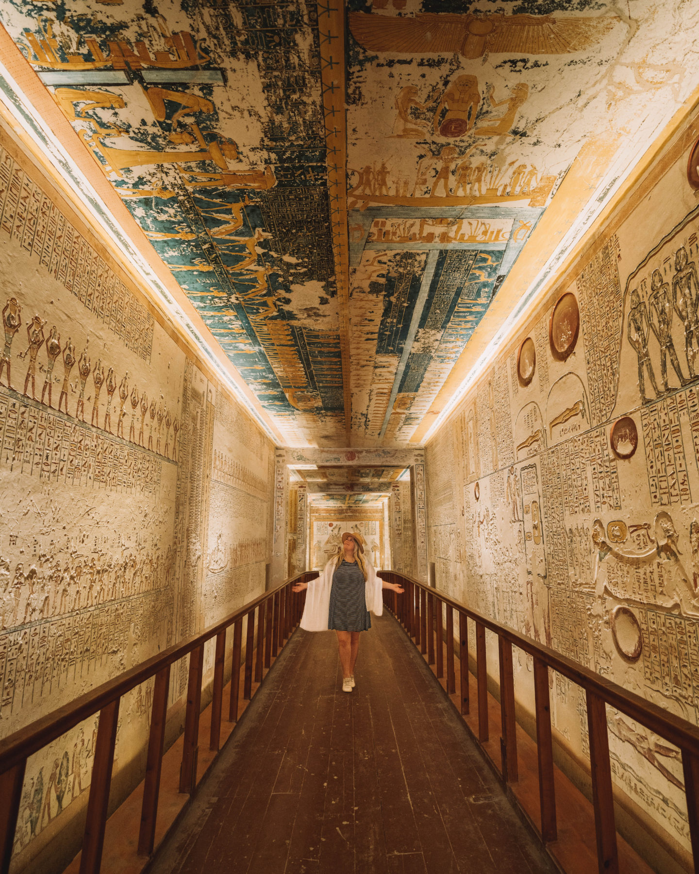 inside tomb at valley of the kings | egypt itinerary