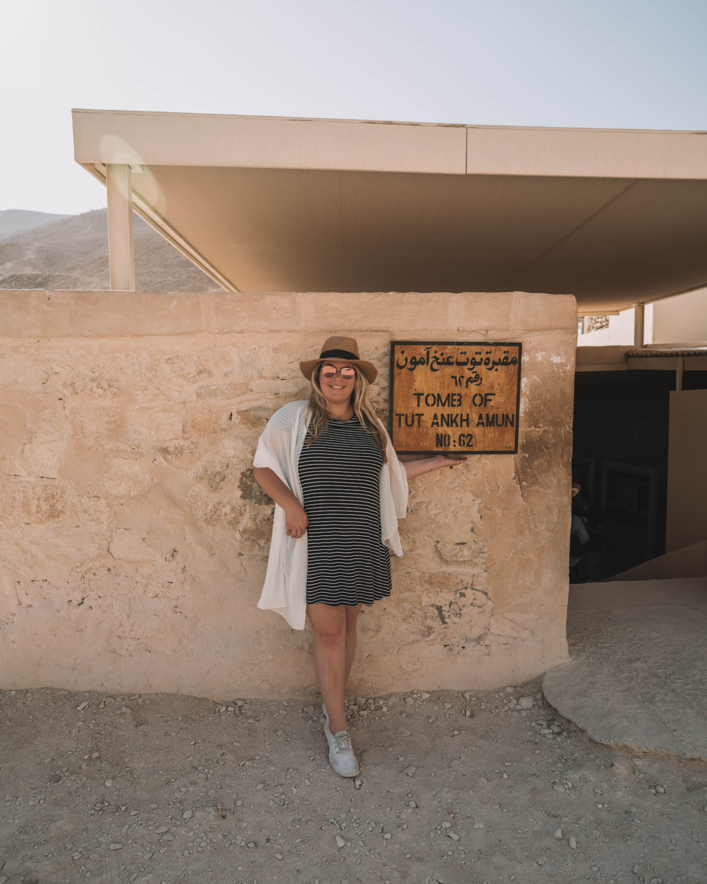 standing in front of king tut's tomb | egypt itinerary