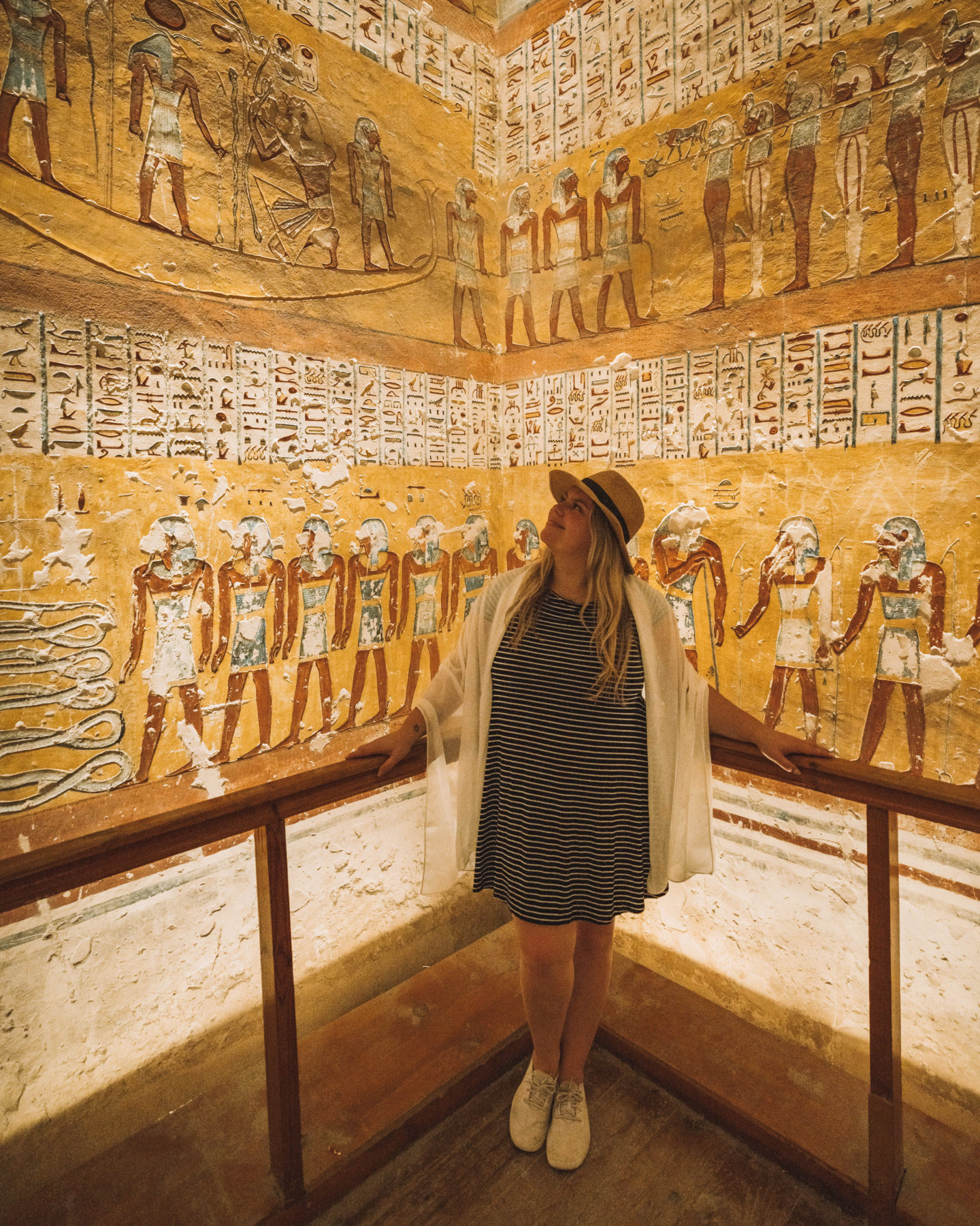 close up inside tomb at valley of the kings | egypt itinerary