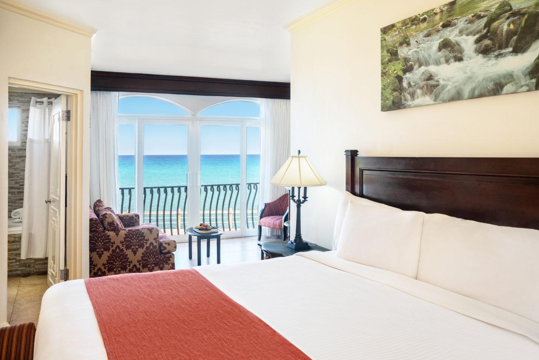 Ocean front butler junior suite at jewel paradise cove in Jamaica