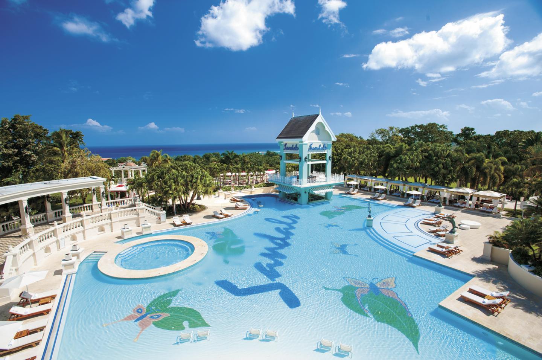 main pool area at sandals ochi ocho rios jamaica