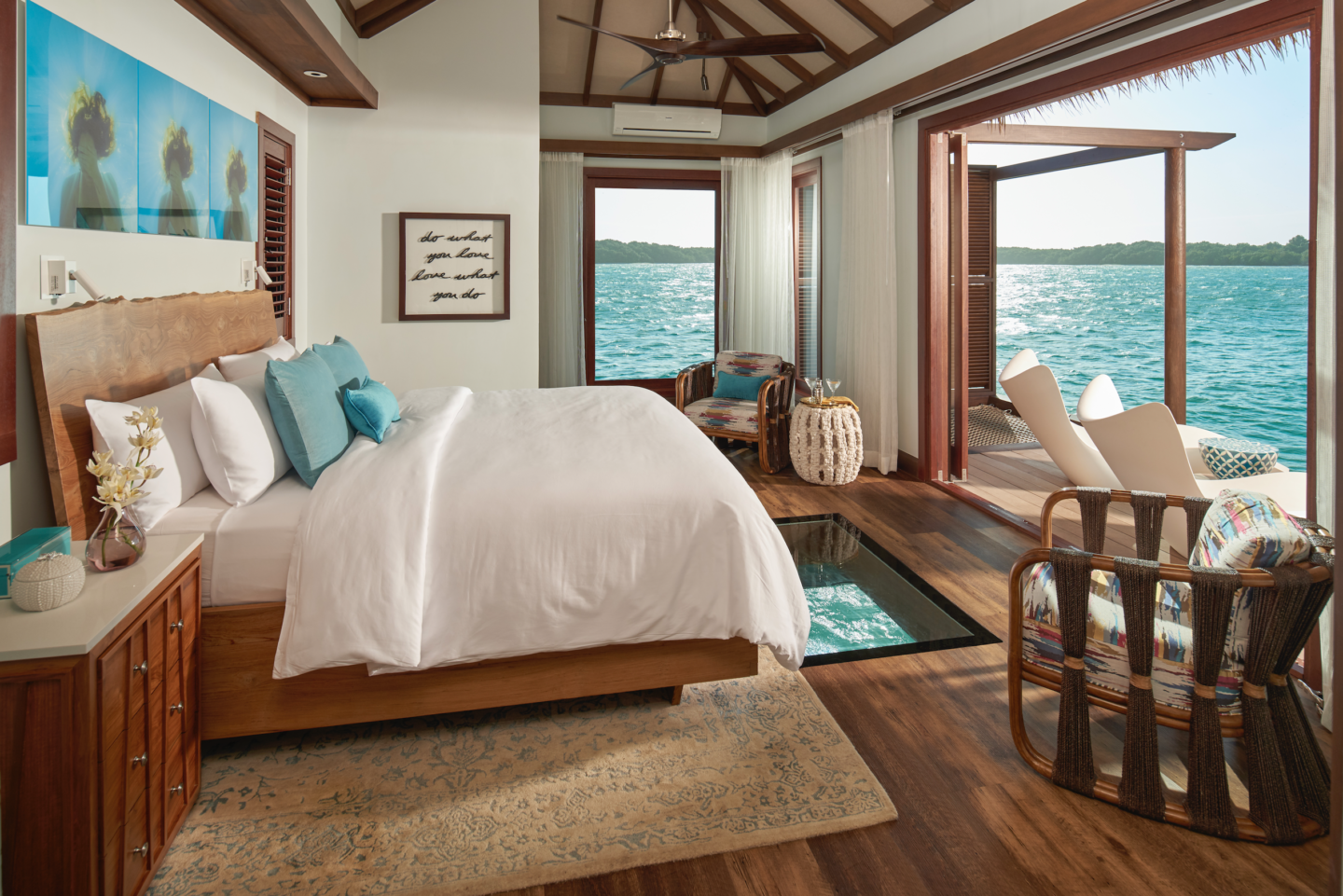 over the water villa room at sandals south coast jamaica