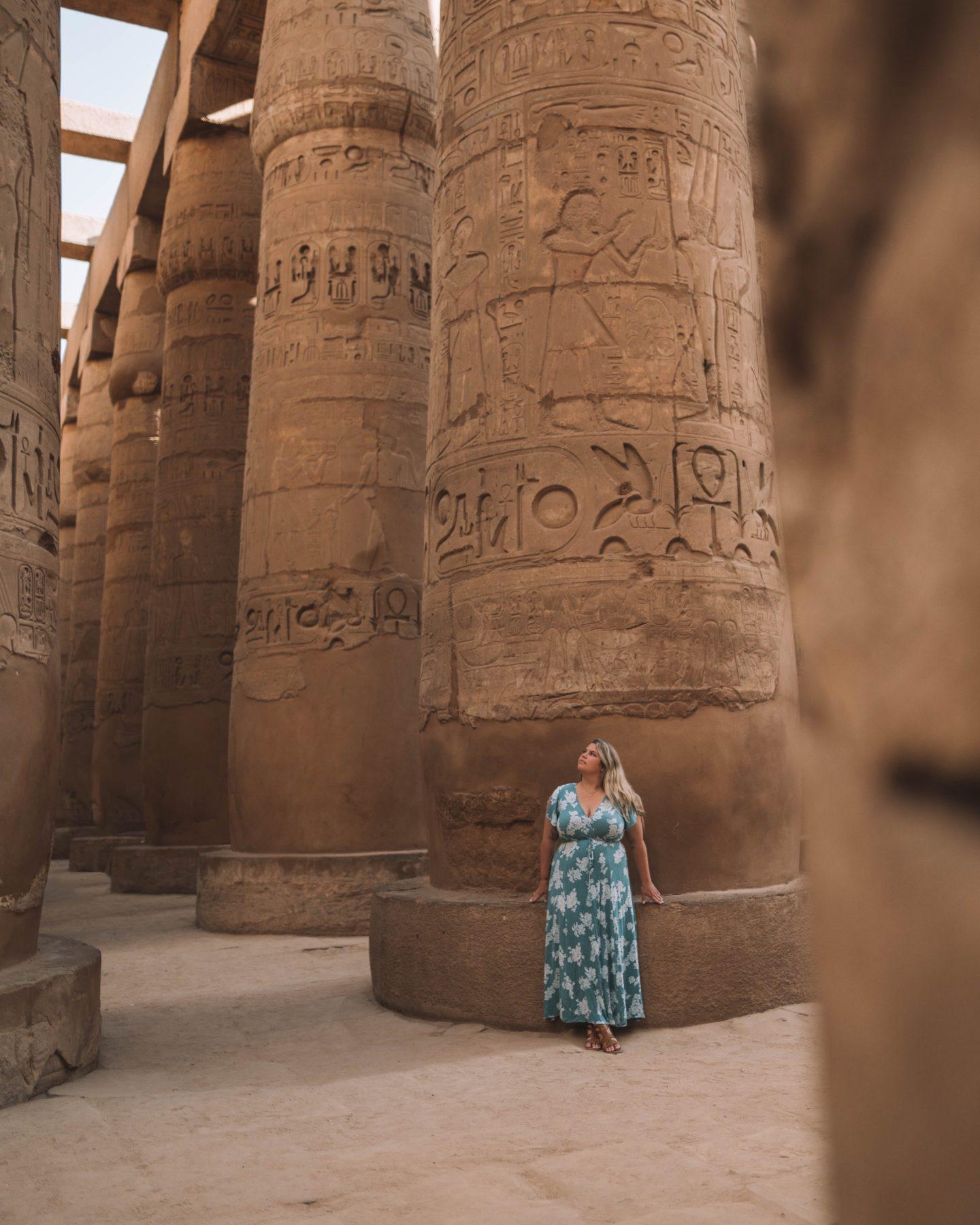 karnak temple pillars | egypt itinerary