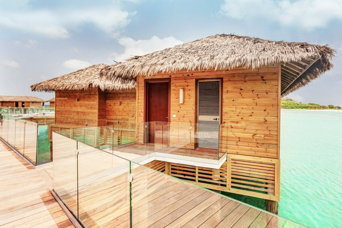 exterior of overwater bungalow at royalton antigua best overwater bungalows in the caribbean