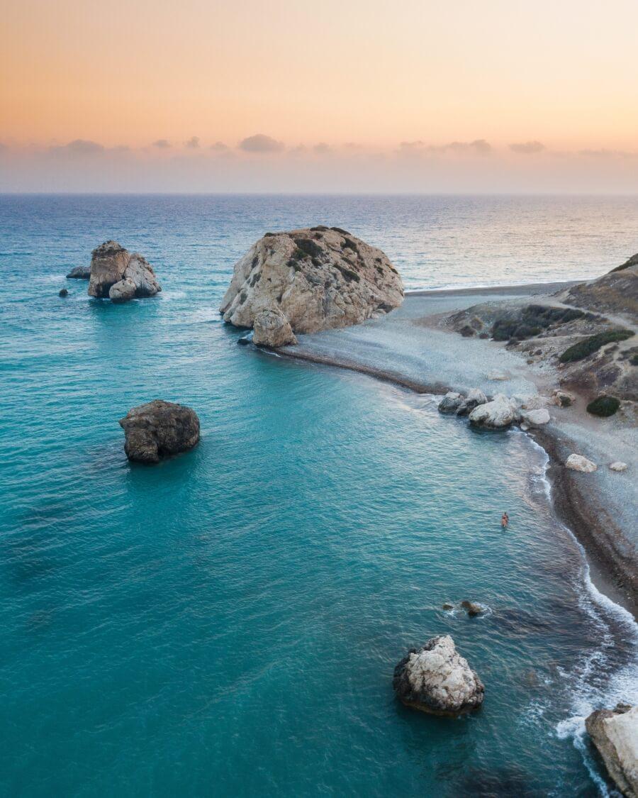 empty beach in cyprus
