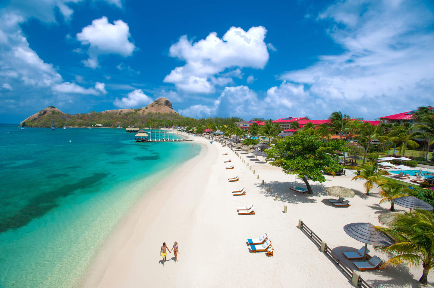 beach at sandals grande st lucian best overwater bungalows in the caribbean