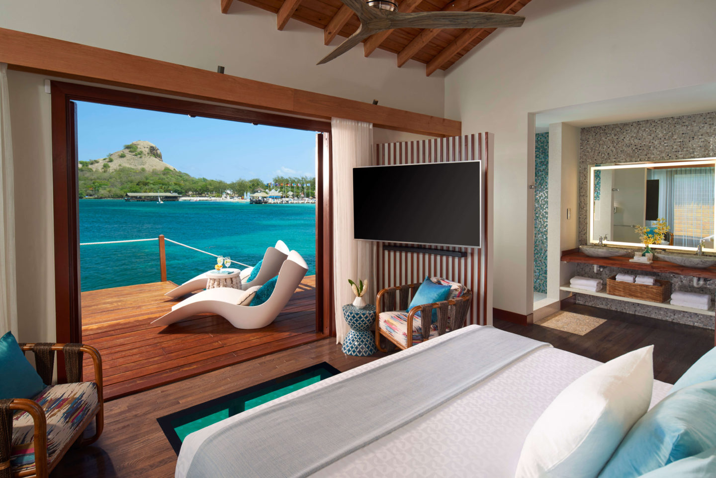 overwater bungalow sandals grande st lucian best overwater bungalows in the caribbean
