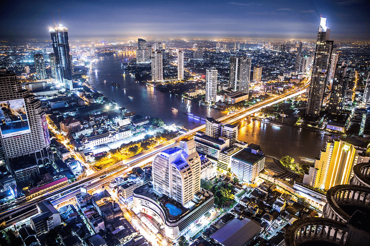 10 days in thailand - bangkok riverside from above