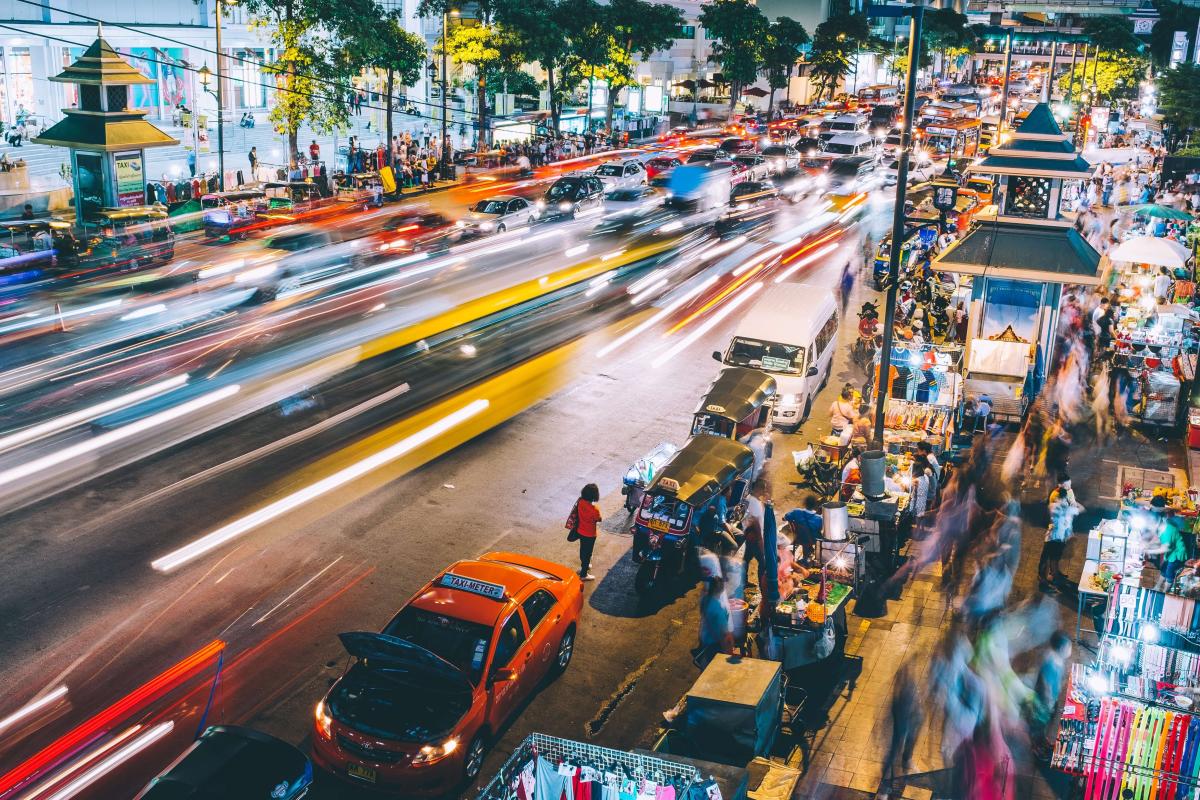 10 day thailand itinerary - busy street in bangkok