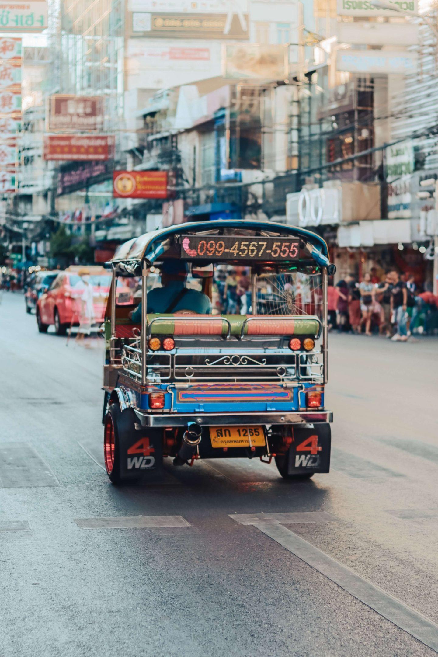 10 days in thailand - tuk tuk driving around thailand