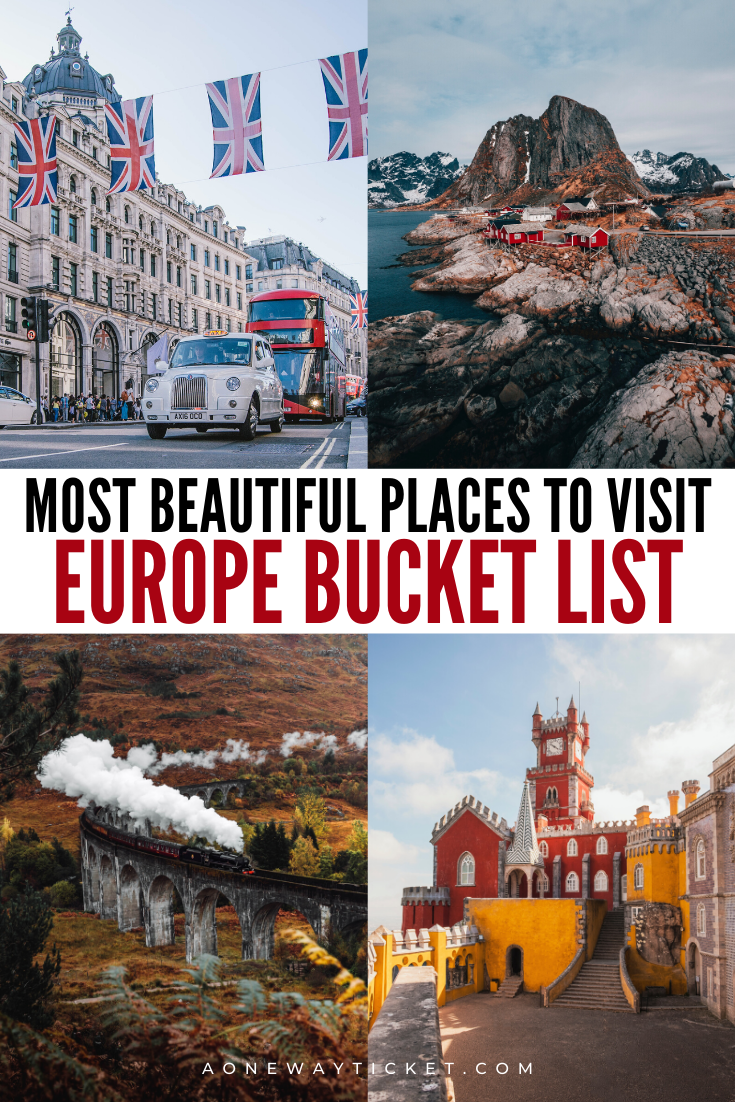 best places to visit in europe bucket list