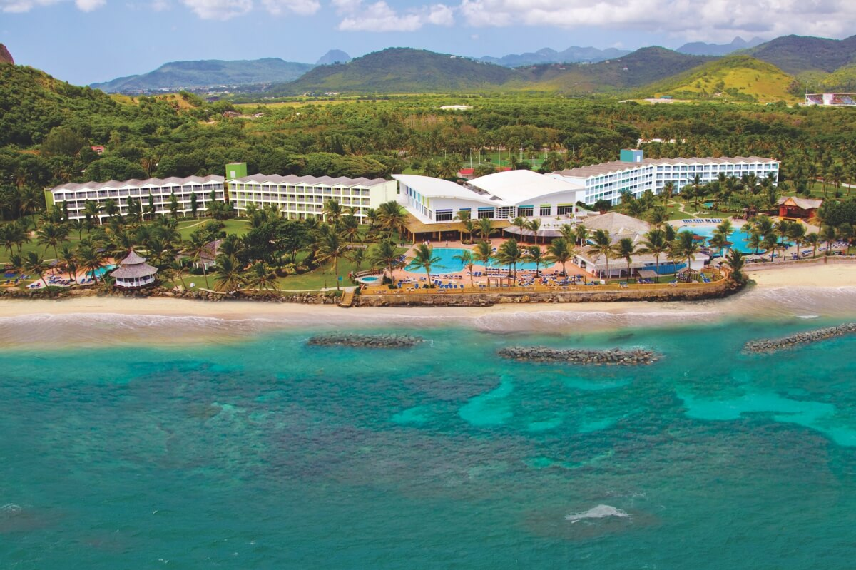 aerial view of coconut bay beach resort st lucia