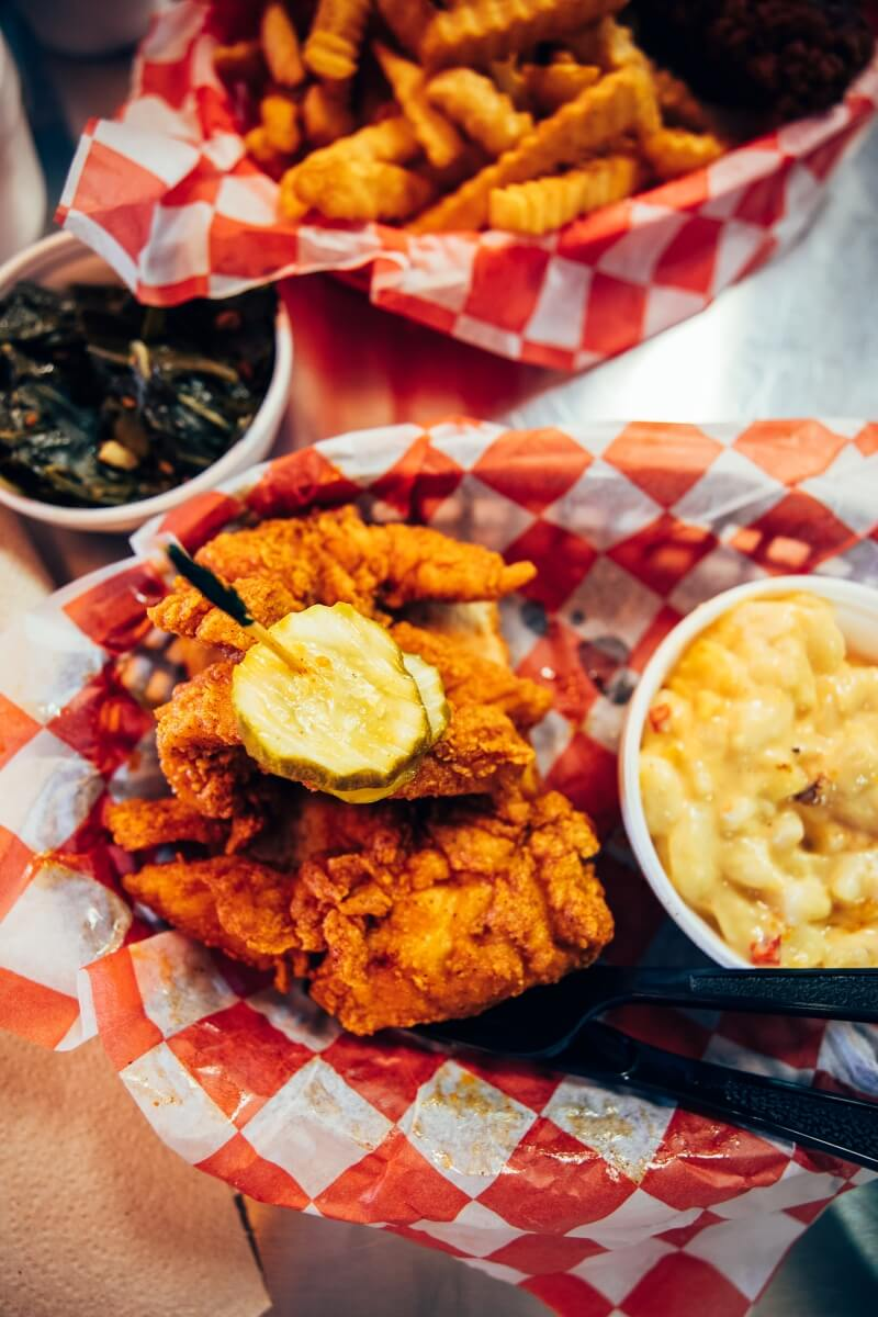 Hattie B's Hot Chicken dish in Nashville