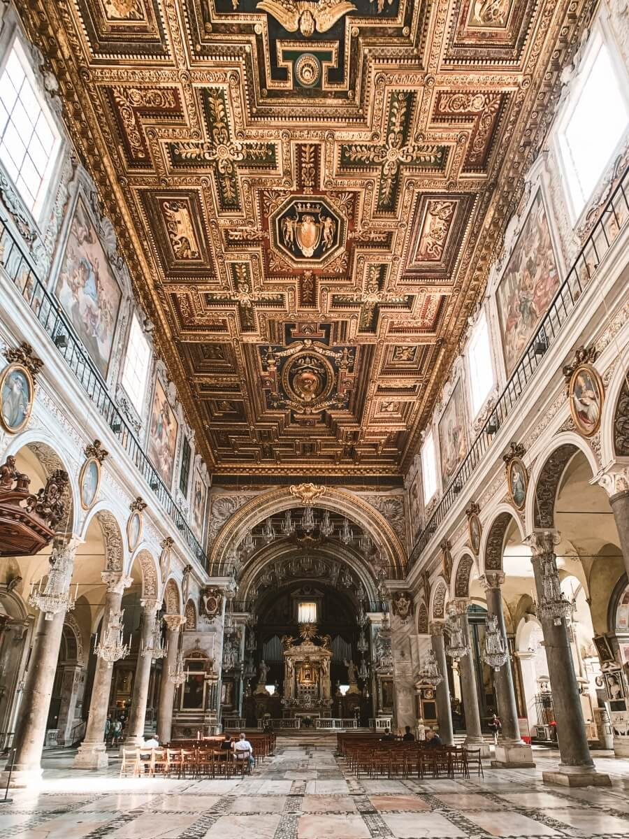 inside the basilica at the vatican