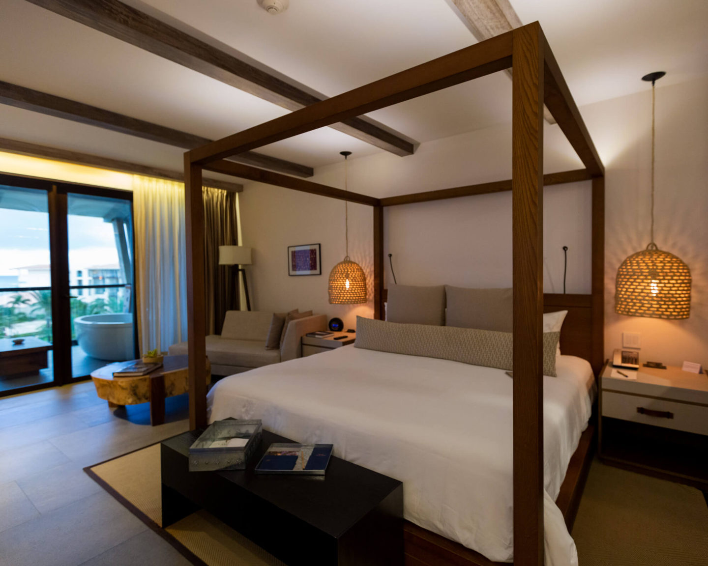 Ocean View bedroom with King bed at UNICO 2087 Riviera Maya