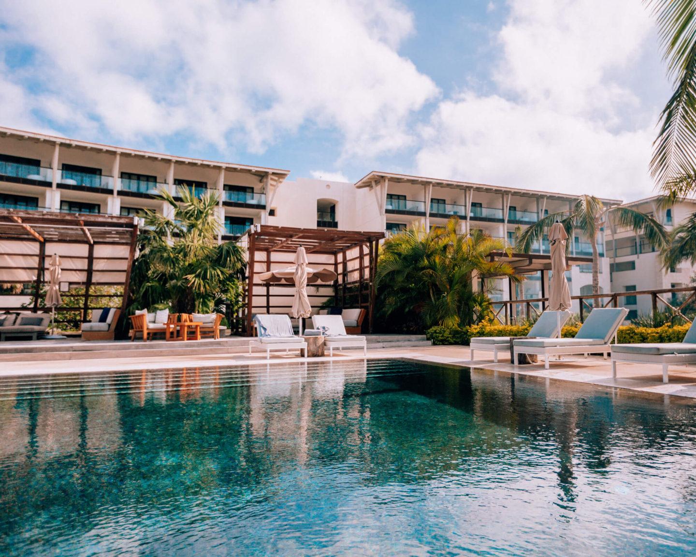 One of the few pools at UNICO 2087 Riviera Maya