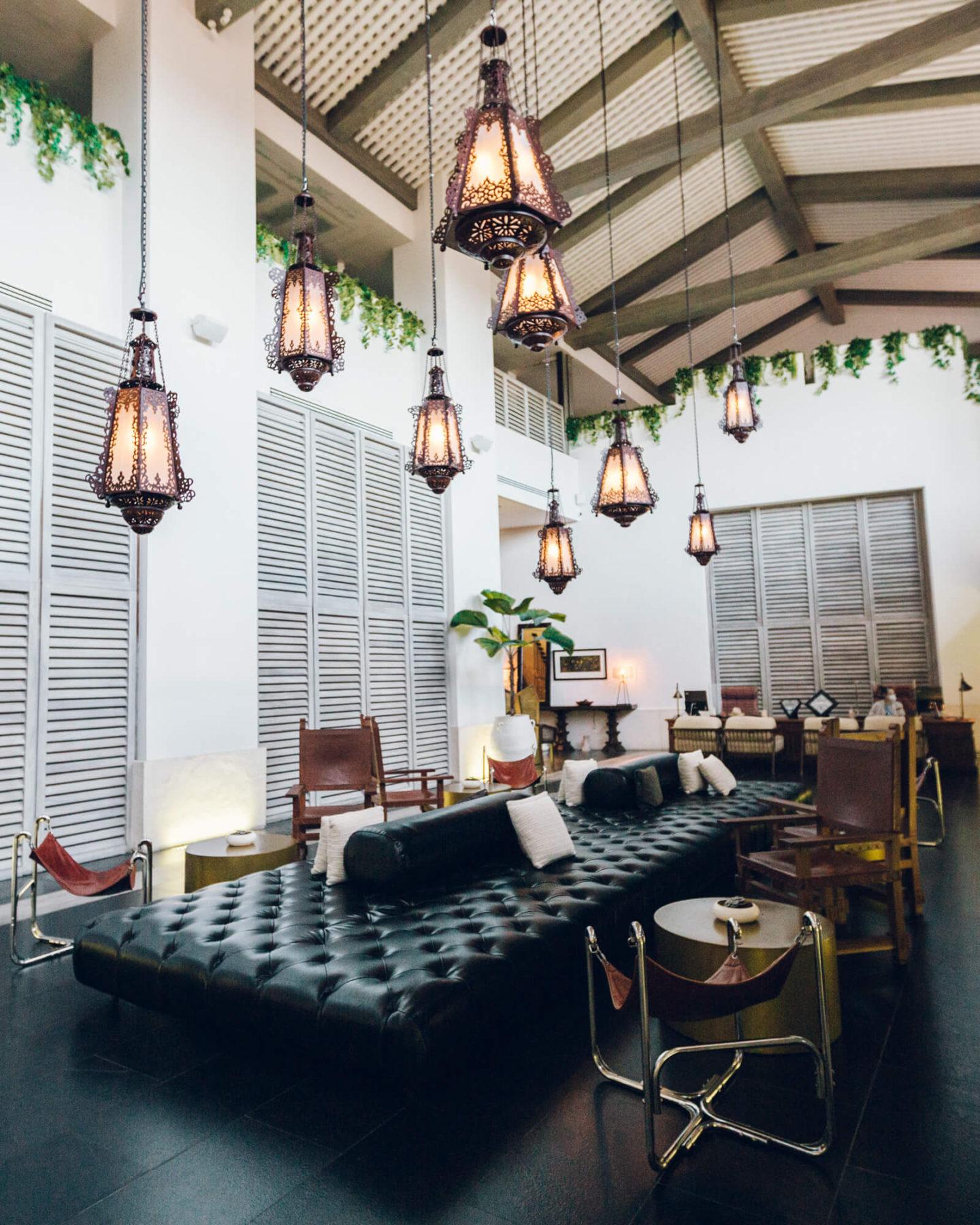 The hotel lobby at UNICO 2087 Riviera Maya