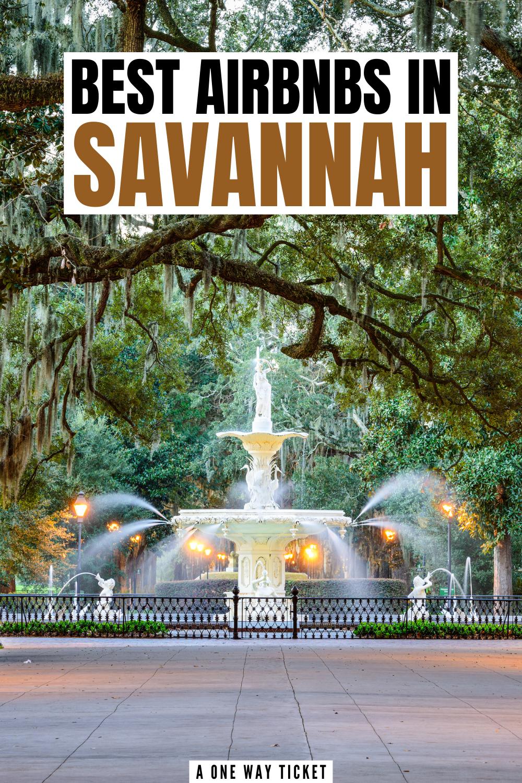 best airbnbs in savannah