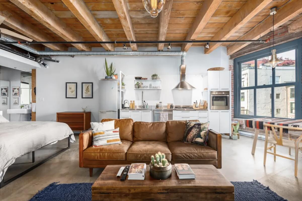 rustic decor in best airbnbs in vancouver
