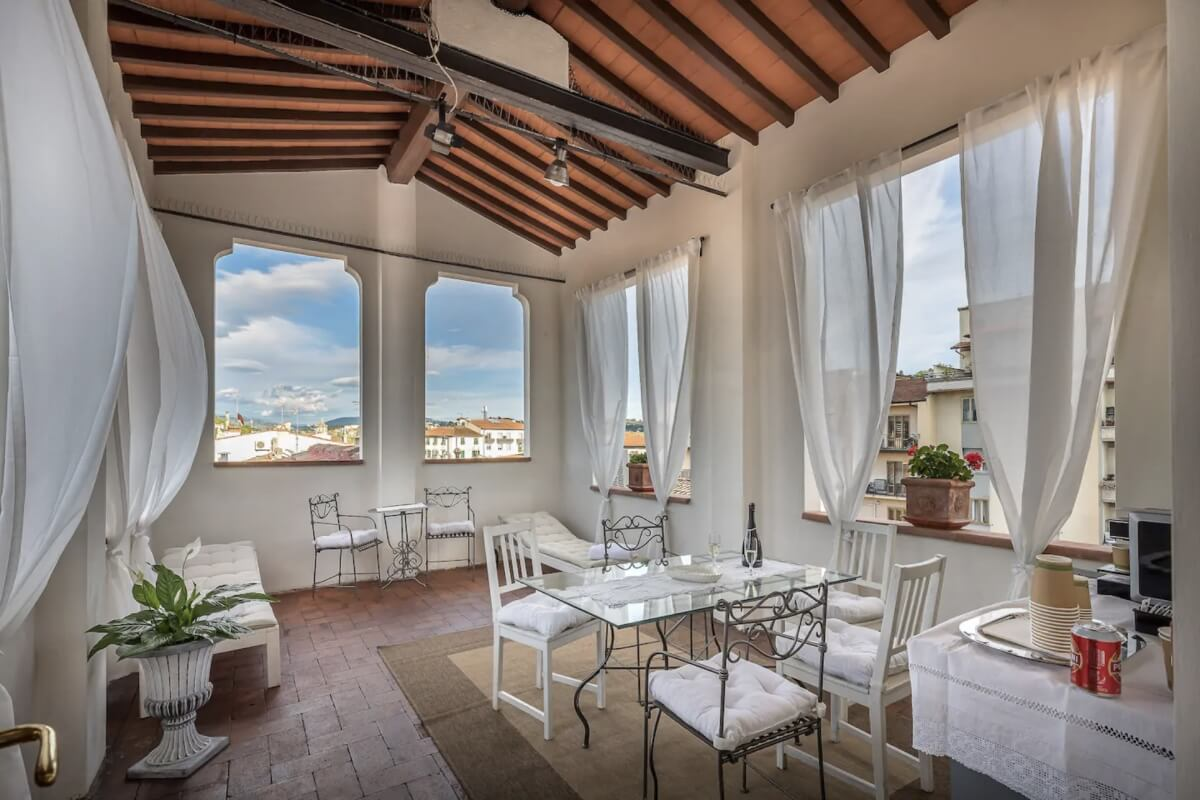 traditional Italian apartment in Florence Italy