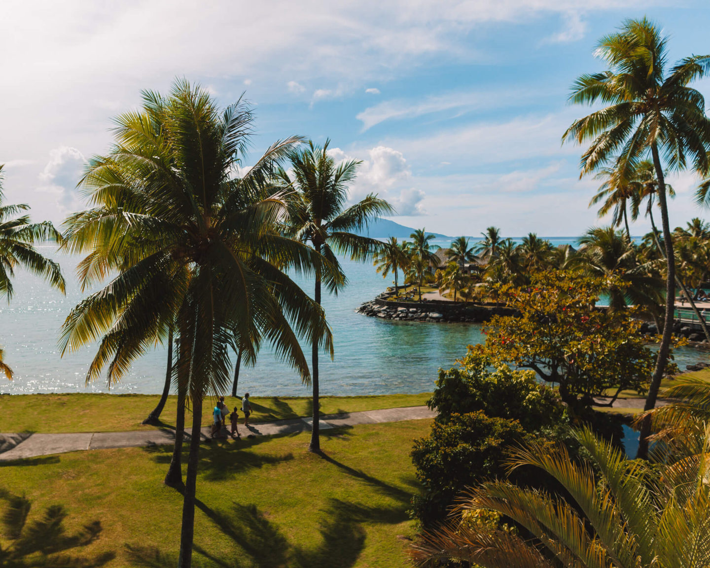 the view of moorea and the intercontinental resort from the panoramic lagoon view room
