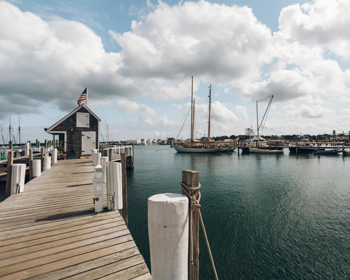 marina outside of black dog tavern in vineyard haven martha's vineyard